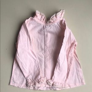 C de C pale pink Blouse with ruffle collar detail